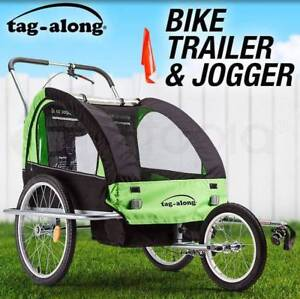Tag-along Kids Green Bike Trailer Bicycle Pram Stroller Brand New Brisbane City Brisbane North West Preview