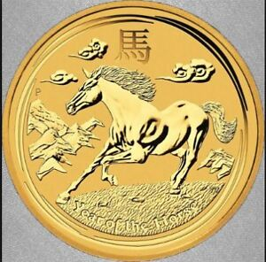 Monnaie or / Gold coin :  PCGS MS-70 Year of the Horse 2014