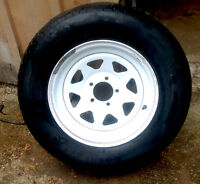 """15"""" utility trailer wheel and tire"""
