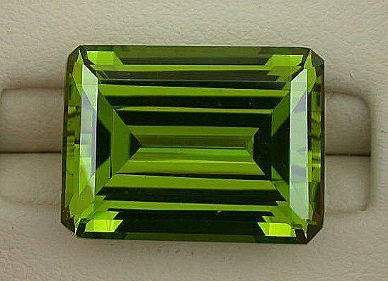 ONE 16x12 Synthetic Emerald Cut Peridot Lab Grown Gem Stone Gemstone EBS3979