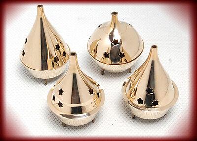 1 Brass Assorted Incense Censer -Resin-Cones-Charcoal Burner NEW{:-)