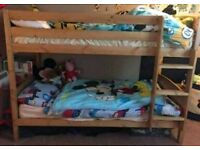 Pine almost new bunk beds