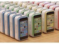 APPLE IPHONE 5C UNLOCKED BRAND NEW CONDITION WARRANTY & SHOP RECEIPT UK STOCK