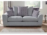 Three seater sofa and cuddle chair
