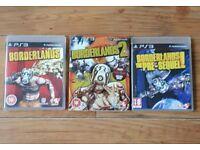 PS3 Borderlands 1, 2, Pre-sequel Bundle