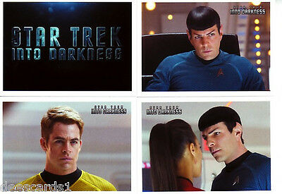 STAR TREK MOVIES Trading Card Base 110-card SET INTO DARKNESS + PROMO CARD P1