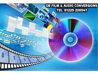 DB FILM & AUDIO CONVERSIONS - VHS TO DVD AND MORE - TEL: 01229 230547