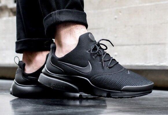 Nike - New NIKE Presto Fly Sneaker Triple Black Mono Mens sz 10-13