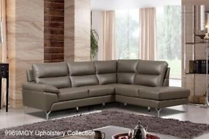 Contemporary Top-grain Leather Sectional
