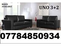 BRAND NEW LEATHER 3+2 SOFA BLACK OR BROWN