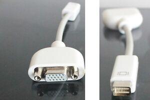 Adaptateur Mini DVI - VGA (Macbook / iMac) *NEUF / NEW*