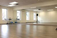 3 Dance Studios, Beautifully Renovated, available for rent