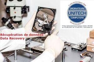 Récupération de données de tous disque dur, usb, etc