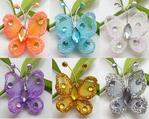 24pc-2-5cm-Mixed-Nylon-Stocking-Butterfly-New-Wedding-Decorations-U-PICK