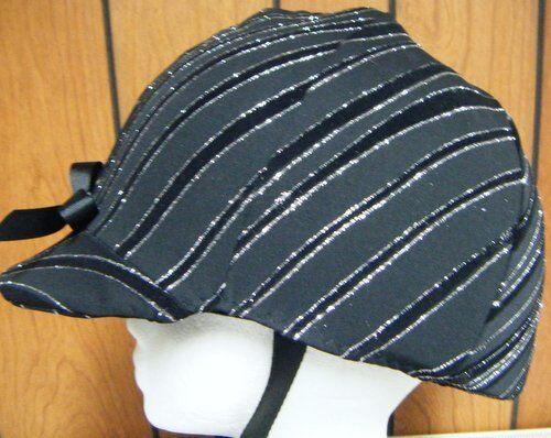 Hunt English Black/ Glitter etc Helmet Cover