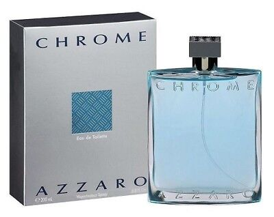 Chrome By Azzaro 6 7   6 8 Oz Edt Cologne For Men New In Box