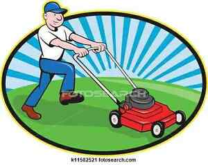 Basic lawn mowing services starting at 15$