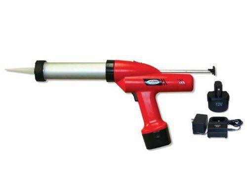 12v Cordless Caulking Gun Kit with 2 Batt, 3-5 Hr Charger & Case