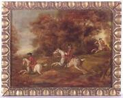 Hunt Scene Oil Painting