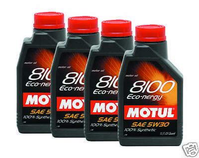 MOTUL 8100 Eco-nergy 5W30 Synthe Engine Oil 1L 4 BOTTLE comprar usado  Enviando para Brazil