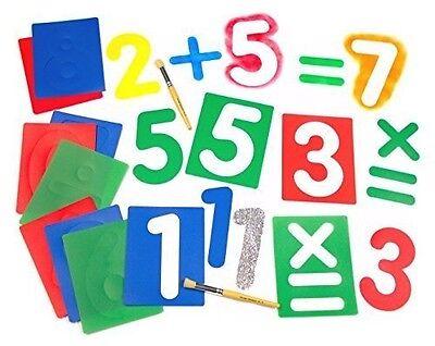 Arithmetic Stencils Major Brushes Large Number & Arithmetic Stencils Set of 12