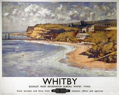 Vintage Railway Advertising  rail travel poster  A4 RE PRINT Whitby