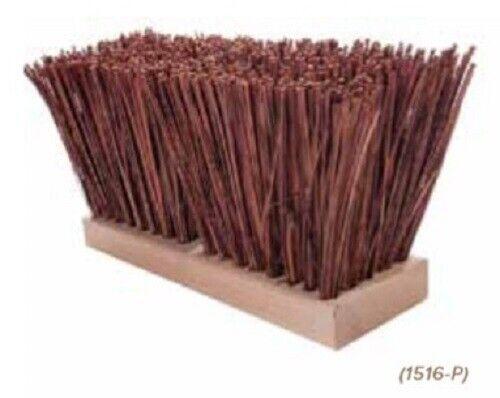 """Magnolia Brush #1516-P 16"""" Palmyra Stalk Street Broom Push Broom Head"""