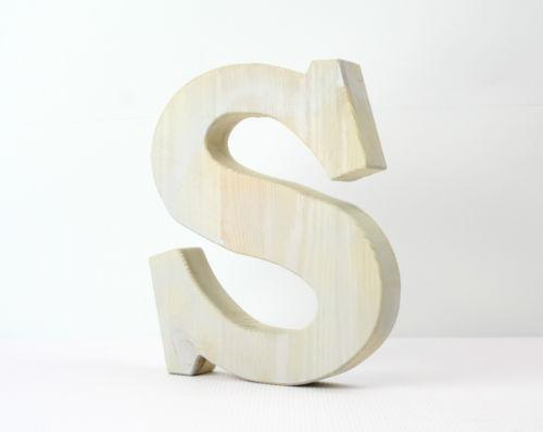 Wooden letters 20cm ebay for Ebay wooden letters