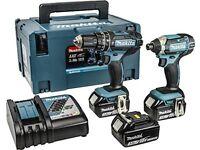 Makita DLX2131JX1 18 V Combi Drill Plus Impact Driver BRAND NEW CHEAPEST in the UK