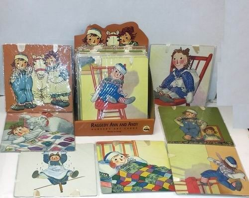 Lot of 24 Pieces - Assorted Raggedy Ann and Andy Nursery Art Cards