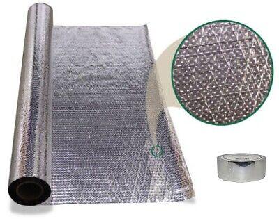 1000 Sqft Diamond Radiant Barrier Attic Foil Reflective Insulation 4x250 W Tape