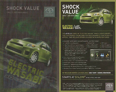Lot of 6   2010 10 Scion XD Electric Wasabi series Post Card brochure