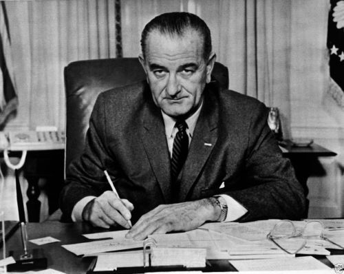 President Lyndon Johnson LBJ at his desk in the Oval Office 1963 New 8x10 Photo