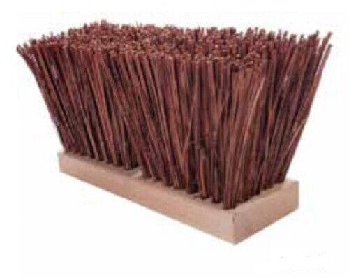 """Magnolia Brush #1518-P 18"""" Palmyra Stalk Street Broom Push Broom Head"""