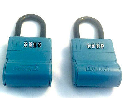New Shurlok Real Estate Lock Box - Key Storage Realtor Lockbox Lot Of 2
