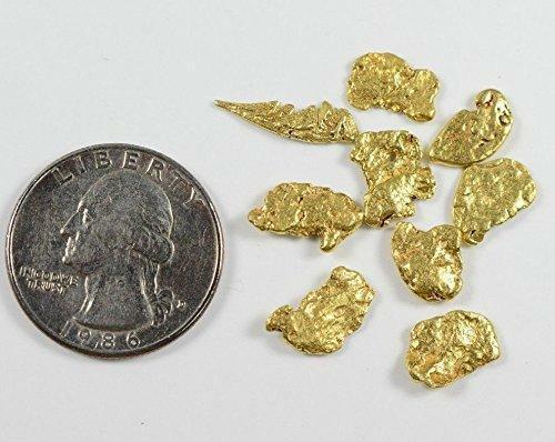 Alaskan-Yukon BC Natural Gold Nugget #4 Mesh 5 Grams