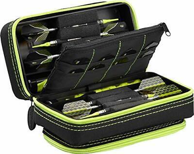 Casemaster Plazma Pro Yellow Trim 6 Dart Case for Soft and Steel Tip Darts Fe...