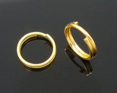 Gold Plated Jewelry Findings - 6-8-15 mm Gold plated Jump rings split double connectors jewelry findings DIY