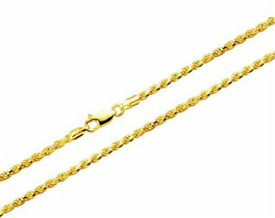 10k Yellow Gold Necklace Gold Rope Chain 16 18 20 22 24 26 28 30 10k Gold Rope Chain