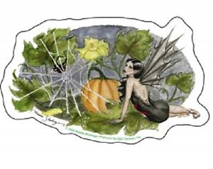 Nedda-Halloween-Pumpkin-Fairy-Sticker-Decal-Print-Goth