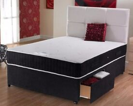 """""""SPECIAL OFFER"""" Small Double or Standard Double Divan Bed Base In White ,Cream or Black"""