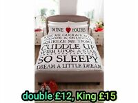 Mine and Yours Bedding set
