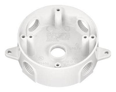 Sigma Electric 143854wh Round Outlet Box Weatherproof White