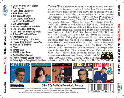 Conway Twitty - 20 Best Of Must Have Hits [New