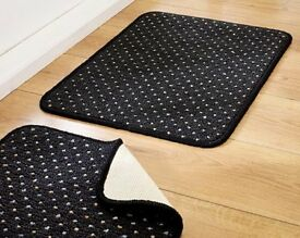 Set of 2 Anthracite Black Doormats (L40 x W57cm) (NEW)
