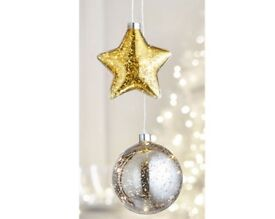 Light up Silver bauble