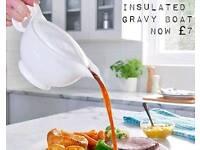 Insulated gravy boat