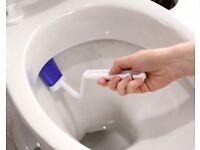Toilet Rim Brush With Box (H10 x W9.5 x D4cm) (NEW)
