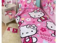 Hello kitty reversible single duvet set