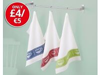 Tea Cup Design Tea Towels - Set of 3